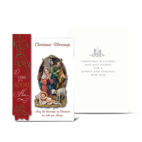 Holy Family Christmas Blessings Christmas Cards | Box of 10