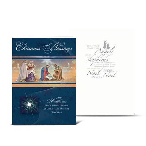 Christmas Blessings Nativity Christmas Cards | Box of 10