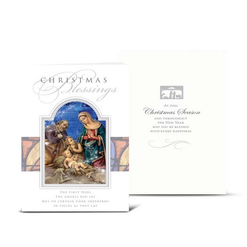 Nativity with Drummer Boy Christmas Cards | Box of 10