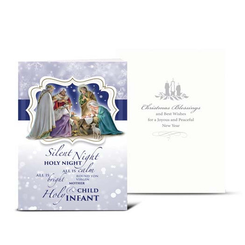 Silent Night Nativity Christmas Cards | Box of 10