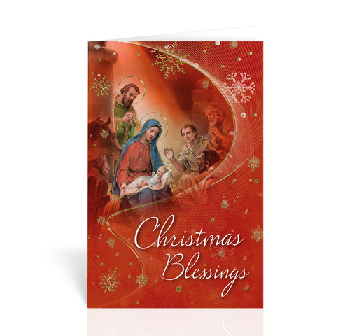 Nativity Christmas Blessings Christmas Cards | Box of 10