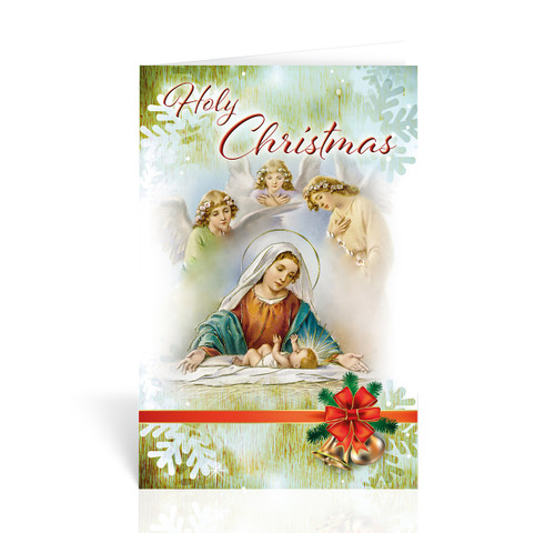 Holy Christmas Infant Jesus with Mary Christmas Cards | Box of 10
