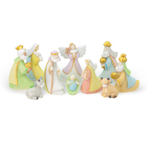 Pastel Christmas Nativity Set