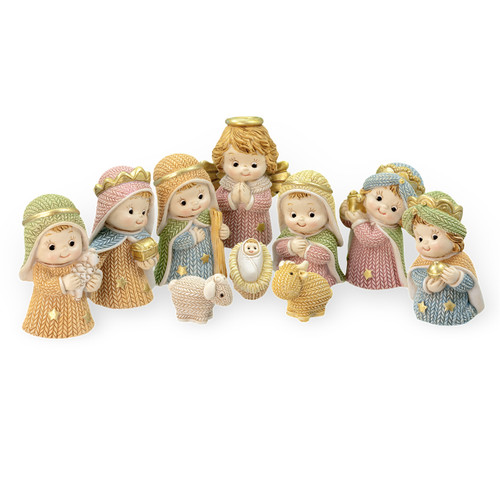 "2-1/4"" Yarn Christmas Nativity Set 