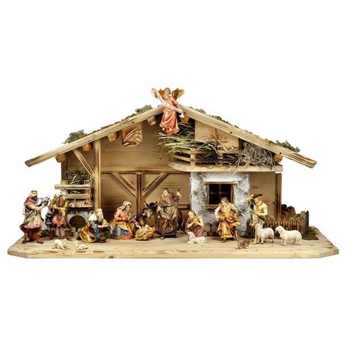 18-Piece Ulrich Nativity Set | Hand Carved in Italy | Multiple Sizes