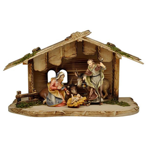 7-Piece Oxen Ulrich Nativity Set | Hand Carved in Italy | Multiple Sizes