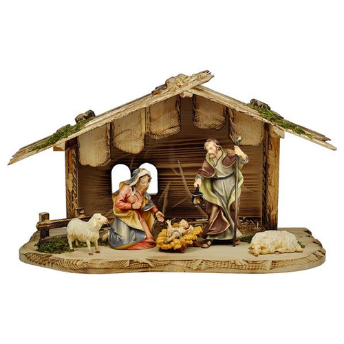 7-Piece Sheep Ulrich Nativity Set | Hand Carved in Italy | Multiple Sizes