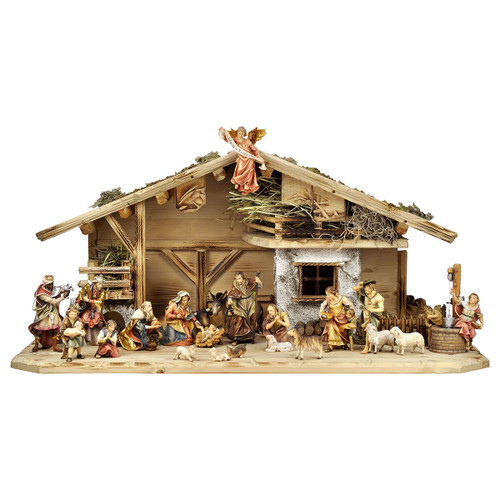 24-Piece Ulrich Nativity Set | Hand Carved in Italy | Multiple Sizes