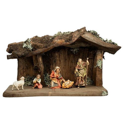 7-Piece Rustic Nativity Set | Hand Carved in Italy | Multiple Sizes