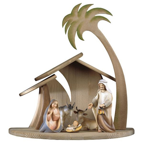 7-Piece Comet Nativity Set | Hand Carved in Italy | Multiple Sizes