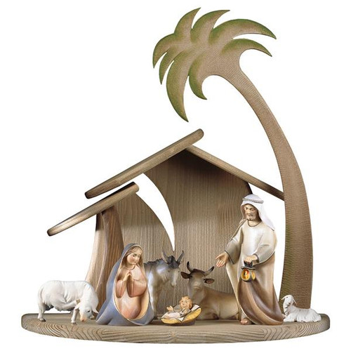 9-Piece Comet Nativity Set   Hand Carved in Italy   Multiple Sizes