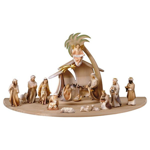 22-Piece Comet Nativity Set | Hand Carved in Italy | Multiple Sizes