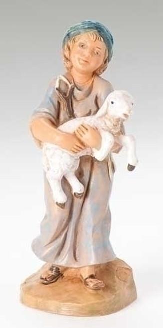"Silas Shepherd Boy | 5"" Scale | Fontanini Italian Nativity"