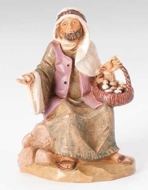 "Ezra Egg Peddler | 5"" Scale | Fontanini Italian Nativity"