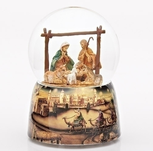 Holy Family Musical Nativity Snow Globe | 6"