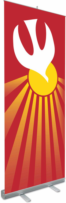 """Holy Spirit Roll Up Banner with Stand 