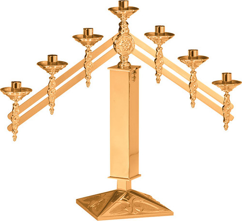 #200 Adjustable Altar Candelabra | Multiple Material & Finishes Available