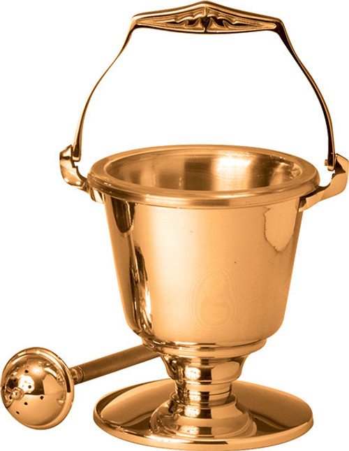 #216 Holy Water Pot & Sprinkler | Multiple Material & Finishes Available