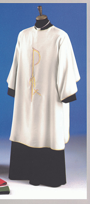 #1356 Contemporary Chi Rho Dalmatic | 100% Primavera Polyester | All Colors