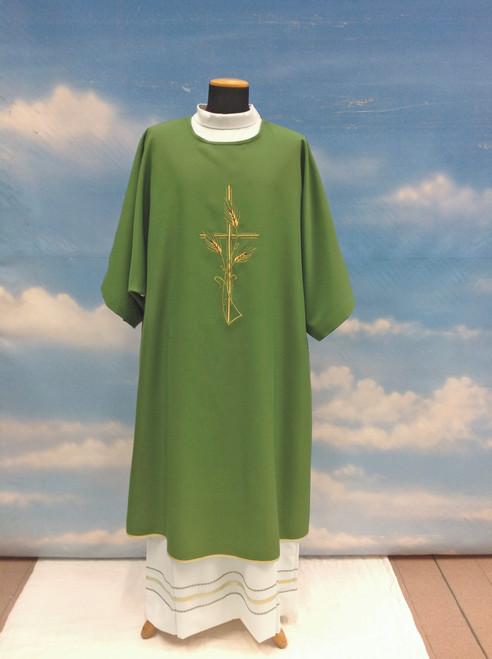 #809 Cross & Wheat Dalmatic | 100% Primavera Polyester | All Colors
