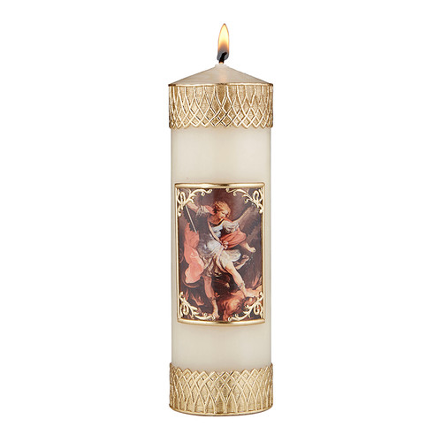 """8"""" St. Michael Devotional Candle 