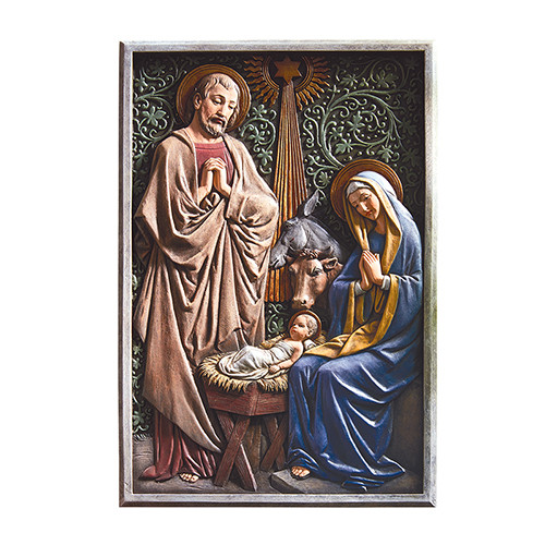 "13"" Nativity Plaque 