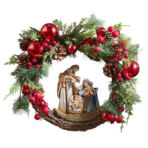"15"" Nativity Wreath | Resin"