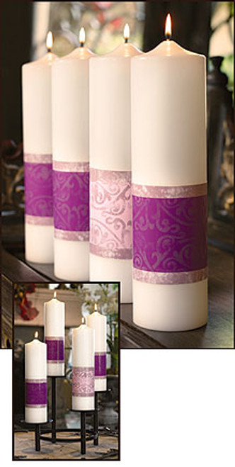 "12"" Emmanuel Collection Advent Pillar Candle Set 