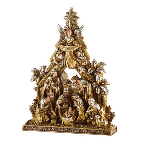 Metallic Nativity Figurine   Resin