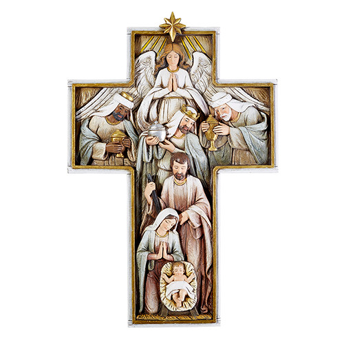 "12"" Nativity Cross Plaque 