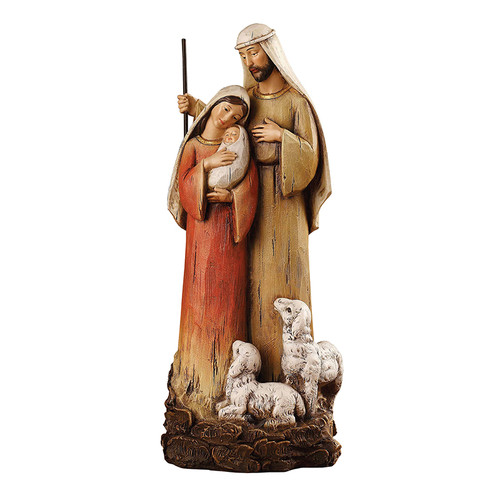 "12"" Holy Family with Lambs Figure 