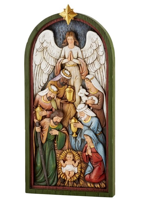 "14"" Nativity Plaque 