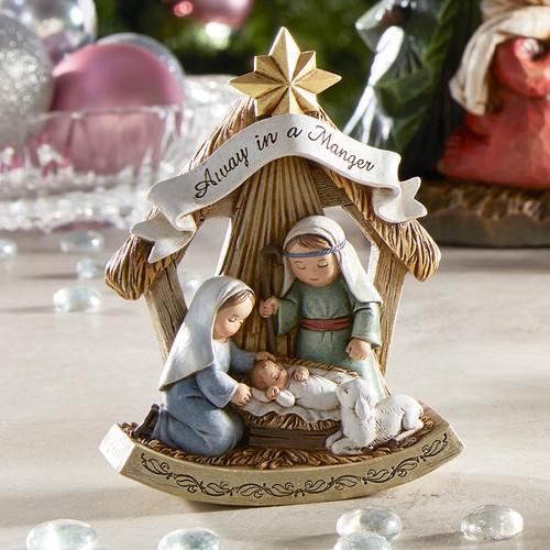 "5"" Children's Nativity Scene Figurine   Resin"