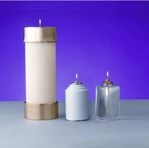 "3 1/2"" Lux Mundi Oil Candle Shell 