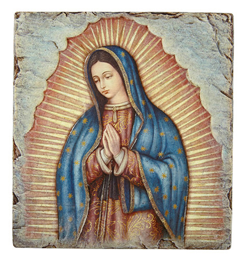 "10"" Our Lady Of Guadalupe Tile Plaque 
