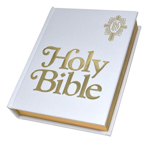 NABRE Catholic Family Bible | White | Engrave