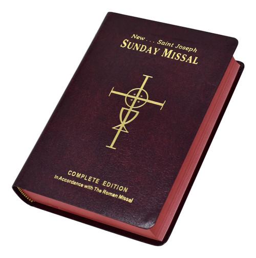 St. Joseph Sunday Missal | Red | Engrave