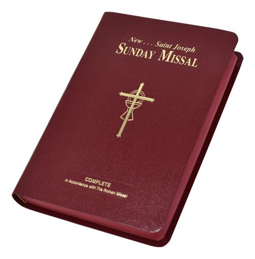 St. Joseph Sunday Missal | Large Type Edition | Burgundy | Engrave