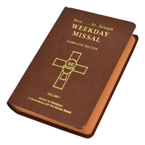 St. Joseph Weekday Missal Vol. I / Advent To Pentecost | Brown | Engrave