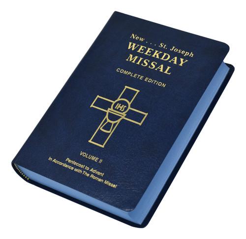 St. Joseph Weekday Missal Vol. II / Pentecost To Advent | Blue | Engrave