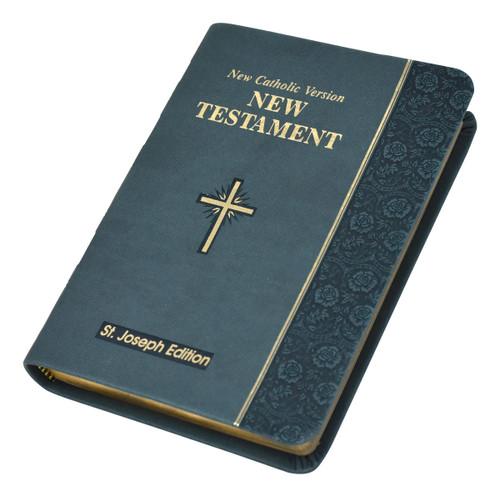 St. Joseph New Catholic Version New Testament | Slate | Vest Pocket Edition | Engrave