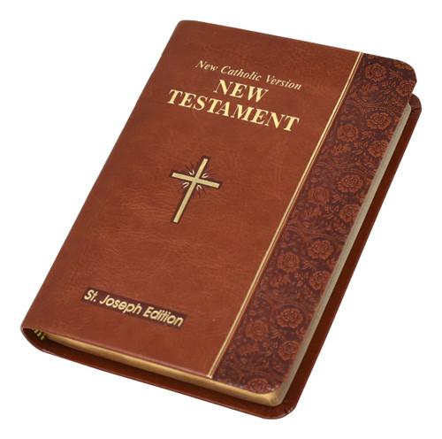 St. Joseph New Catholic Version New Testament | Brown | Vest Pocket Edition | Engrave