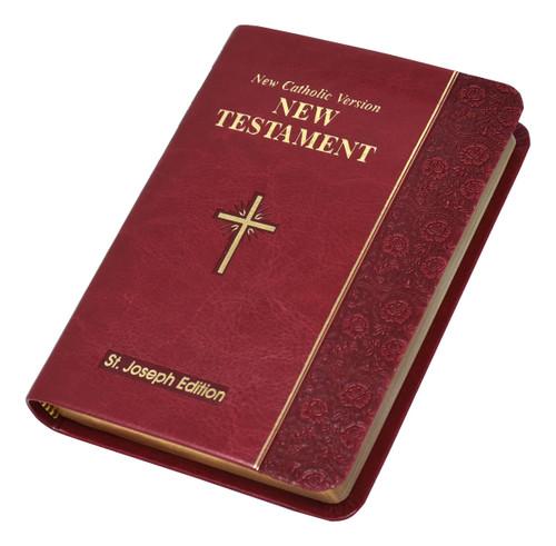 St. Joseph New Catholic Version New Testament | Burgundy | Vest Pocket Edition | Engrave