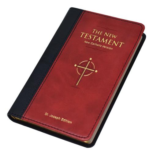 St. Joseph New Catholic Version New Testament | Burgundy | Pocket Edition | Engrave