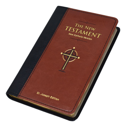 St. Joseph New Catholic Version New Testament | Brown | Pocket Edition | Engrave