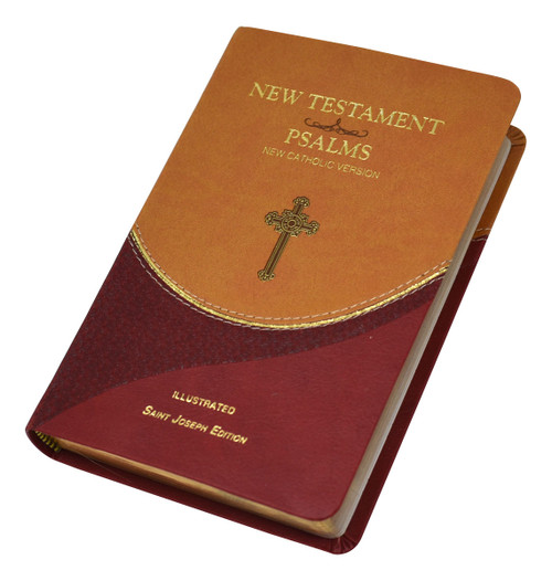 St. Joseph New Catholic Version New Testament And Psalms | Brown/Burgundy | Engrave