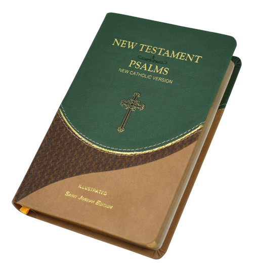 St. Joseph New Catholic Version New Testament And Psalms | Green/Brown | Engrave