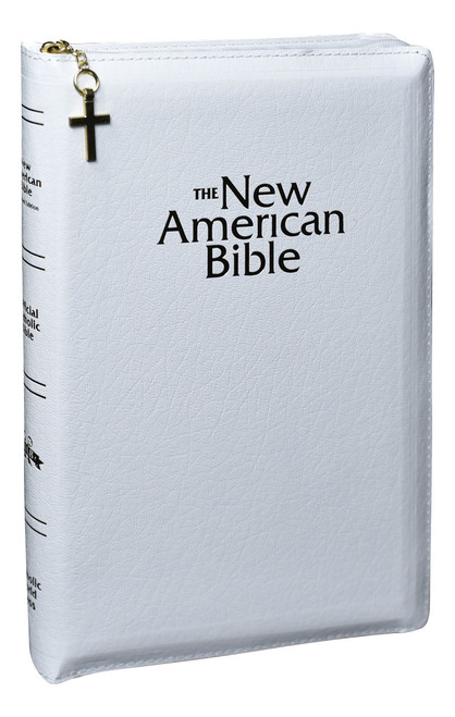 NABRE Deluxe Gift Bible | White | Zipper Closure | Engrave