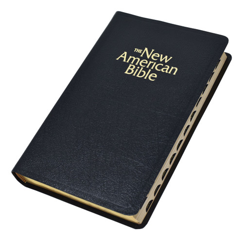 Indexed NABRE Gift & Award Bible | Black Leather | Engrave