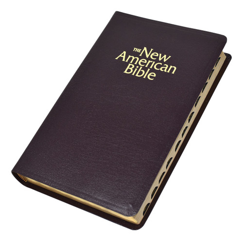 Indexed NABRE Gift & Award Bible | Burgundy Leather | Engrave